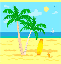 Summer vacation by seaside seascape and warmth vector