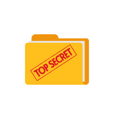 Top secret document files folder with confidential vector