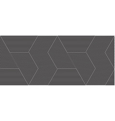 universal repeating abstract shape in black and vector image