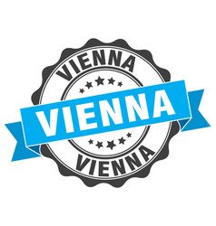 Vienna round ribbon seal vector
