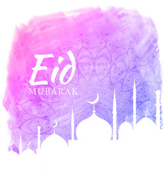 Watercolor background for eid festival season vector