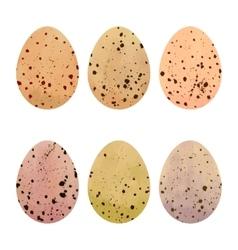 Watercolor Easter eggs set vector image