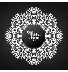Graphic coral circle ornament vector image vector image