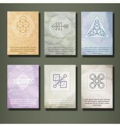 Set of Vintage Labels Logo Frames Brochures vector image vector image