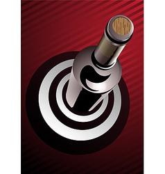 target wine vector image vector image