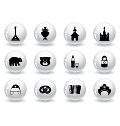 Web buttons russian icons vector image