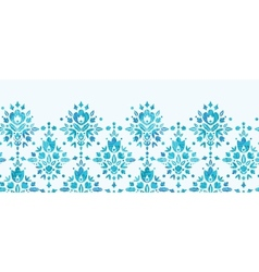 Abstract Flower Damask Horizontal Seamless Pattern vector image