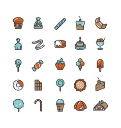Candy desserts ice cream sweets donut vector image