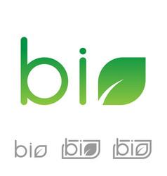 set of bio logo vector image