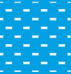 sofa pattern seamless blue vector image vector image