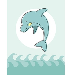 Animal series Dolphin vector image