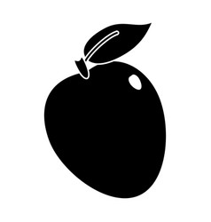 apple ripe fruit icon pictogram vector image