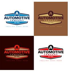 automotive company vector image vector image