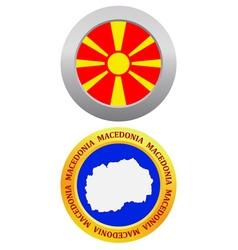 Button as a symbol macedonia vector