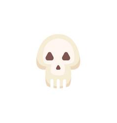 cartoon skull isolated vector image
