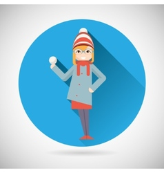 Happy Smiling Geek Hipster Girl Character with vector image