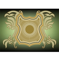 Shield pattern style vector image vector image