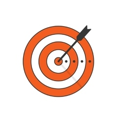 Target arrow icon concept of goal aim vector image vector image