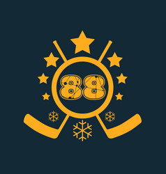 88 number vector image vector image