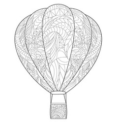 adult antistress coloring balloon of vector image vector image