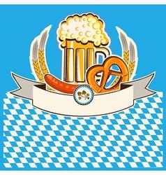Beer card Bavaria background vector image vector image