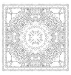 coloring book square page for adults - ethnic vector image