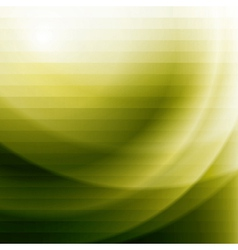 green business background with stripes and waves vector image