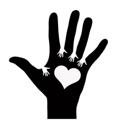 Hands reaching each other vector