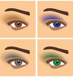 Makeup eyes vector image