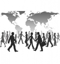 population silhouettes vector image vector image