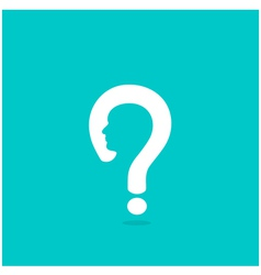 Question mark man head symbol vector image