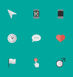 Set of simple interface icons vector