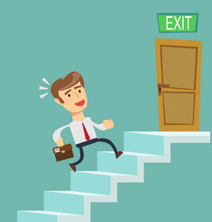 A young businessman going upstairs steadily vector