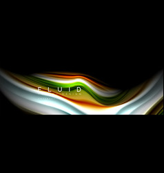 abstract liquid colorful banner trendy wavy vector image