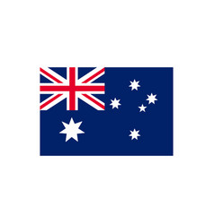australia flag icon in flat style vector image