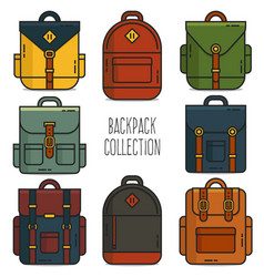 Backpack collection vector