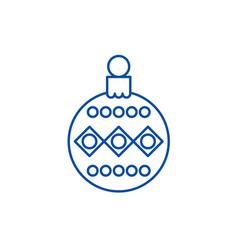 beautiful christmas ball line icon concept vector image