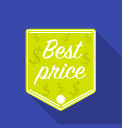 best price icon in flat style isolated on white vector image