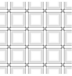 Black line square on white abstract background vector
