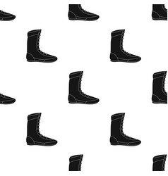 Boxing shoes icon in black style isolated on white vector