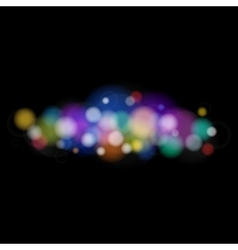 Bright Colored Lights on Black Background vector image