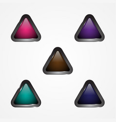 button triangle vector image