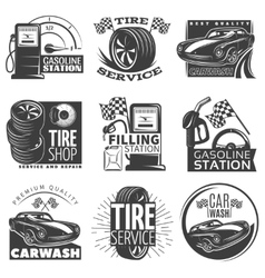 Car Service Emblem Set vector