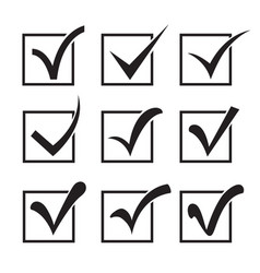 Checkbox icons vector