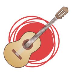 classic spanish guitar vector image