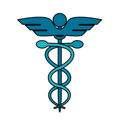 Color image cartoon health symbol with serpent vector