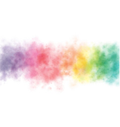colorful rainbow watercolor wash splash background vector image