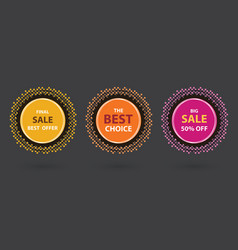 Colorful sale advertisment banners vector