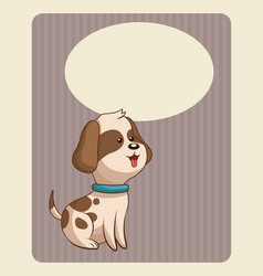 Cute doggy poster image vector