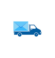 delivery mail logo icon design vector image